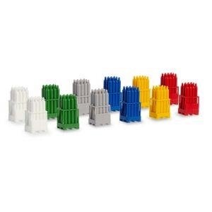 Herpa Zubehör 054096 - Gasflaschen mit Paletten, 2 x rot, 2 x gelb, 2 x grau, 2 x blau, 2 x weiß, 2 x grün,1:87, 4013150054096