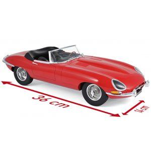 Norev 122720, Jaguar E-Type Cabriolet, rot, Modelljahr 1962. Maßstab 1:12, 3551091227205