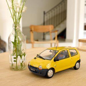 Norev 185297, Renault Twingo 1996, Lemon Yellow & United deco, 1:18, 3551091852971
