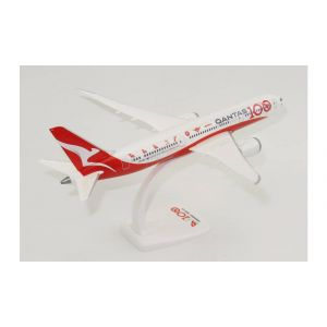 Herpa Wings Snap Fit 612883, QANTAS, 100TH ANNIVERSARY, BOEING 787-9 DREAMLINER, 1:200, 4013150612883