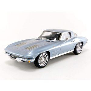 GT Spirit GT183, 63er Chevrolet Corvette C2 Sting Ray Coupe, silber blau metallic, 1:12, Limitiert, 9580010303717