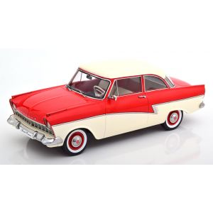 KK-Scale 180271, Ford Taunus 17M P2, 1958, rot/weiß, 1:18