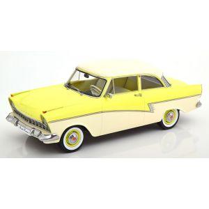KK-Scale 180273, Ford Taunus 17M P2, 1958, hellgelb/weiß, 1:18