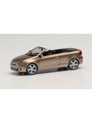 Herpa 034869-002, VW Golf Cabrio, sweet data gold metallic, 1:87, 4013150349499