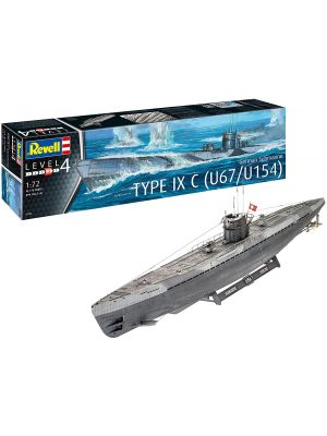 Revell 05166, WWII Deutsches U-Boot, Type IXC U67, U154, 1:72, 4009803051666