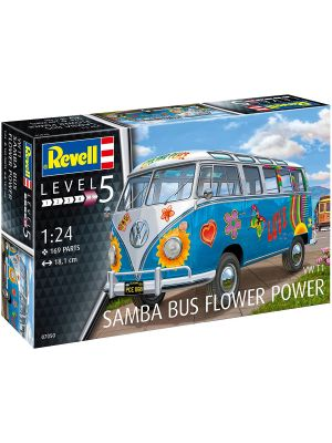 Revell 07050, Samba T1, Flower Power, 1:24, 4009803070506