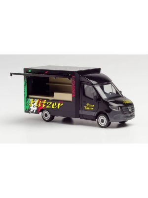Herpa 095884, Mercedes-Benz Sprinter 18 Foodtruck, Pizza Flitzer, 1:87, 4013150095884
