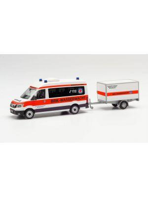 Herpa 096096, MAN TGE Bus HD mit Anhänger, BRK Wasserwacht Amberg/Sulzbach (Bayern/Amberg-Sulzbach), 1:87, 4013150096096