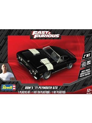 Revell 14477, Dom's 71 Plymouth GTX, 1:24, 031445044779