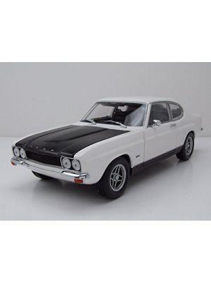 Minichamps 150089078, Ford Capri RS 1970, weiß/schwarz, Limited Edition. 1:18, 4012138138957
