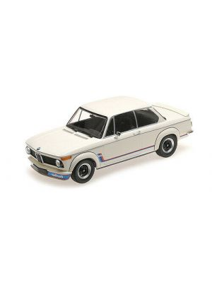 Minichamps 155026200, BMW 2002 Turbo (E20), 1973, weiß, 1:18, 4012138141964