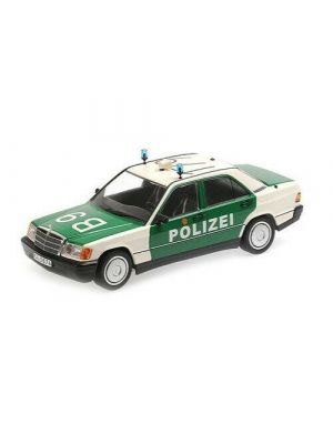 Minichamps 155037090, Mercedes Benz 190E (W201), 1982, Polizei, 1:18, 4012138153400