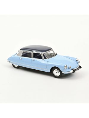 Norev 157083, Citroën DS 21 Pallas 1965, Monte Carlo Blau u. Orient Blau Dach, 1:43, 3551091570837