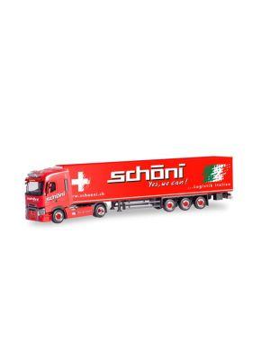 Herpa 311090, Renault T Kühlkoffer-Sattelzug, Schöni International, Schweiz, Rothrist, 1:87, 4013150311090