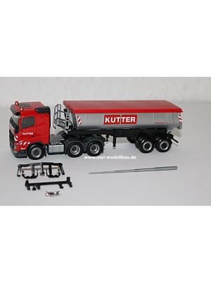 Herpa 311885, Volvo FH FD 6x4 Thermomulden-Sattelzug, Kutter, 1:87, 4013150311885
