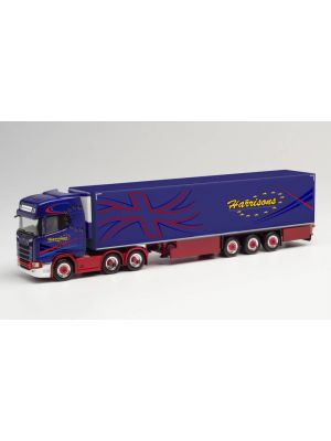 Herpa 312738, Scania CS 20 HD Kühlkoffer-Sattelzug, Harrisons, Großbritannien, Preston, 1:87, 4013150312738