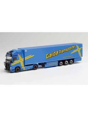 Herpa 312752, Volvo FH Gl. XL Kühlkoffer-Sattelzug, Gaida Transporte, Bayern, Schondra, 1:87, 4013150312745