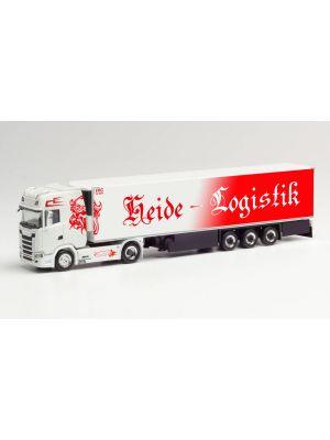 Herpa 312950, Scania CS 20 HD Kühlkoffer-Sattelzug, Heide Logistik, Niedersachsen, Kirchlinteln, 1:87, 4013150312950