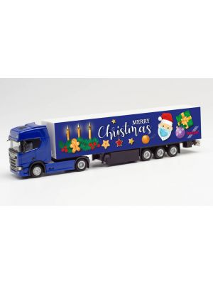 Herpa 313223, Scania CR 20 HD Koffer-Sattelzug, 3. Advent 2020, 1:87, 4013150313223