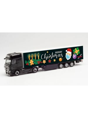 Herpa 313230, Mercedes-Benz Actros Gigaspace Koffer-Sattelzug, 4. Advent 2020, 1:87, 4013150313230