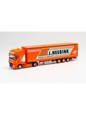 Herpa 313292, DAF XF SSC Lowliner-Gardinenplanen-Sattelzug, Heebink (Niederlande/Veenendaal), 1:87, 4013150313292