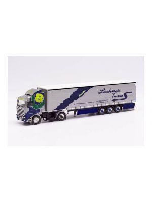 Herpa 313551, Scania 143 420 V8 Streamline Gardinenplanen-Sattelzug, Lechner Trans (Italien/Lasa), 1:87, 4013150313551