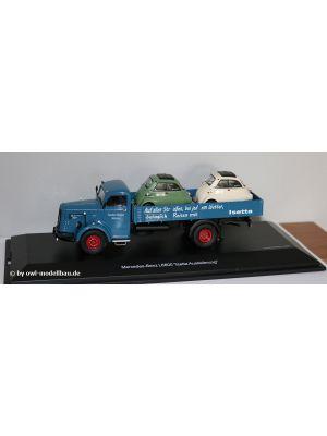 Schuco 450304800 - Mercedes Benz L6600 - Isetta Auslieferung. 1:43