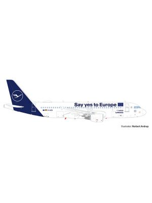 Herpa Wings 533614, Lufthansa Airbus A320, Say yes to Europe, Sindelfingen, 1:500, 4013150533614