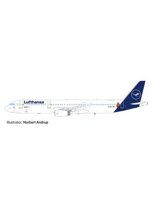 Herpa Wings Snap Fit 612432, Lufthansa Airbus A321, Die Maus, 1:200, 4013150612432