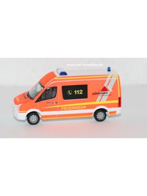 Herpa 929288, VW Crafter, Feuerwehr Göppingen, Sondermodell Baden-Württemberg, 1:87, 4013150929288