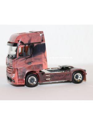 Herpa 934978, Mercedes Benz Actros Gigaspace Sattelzugmaschine, marmoriert, 1:87, 4013150934978
