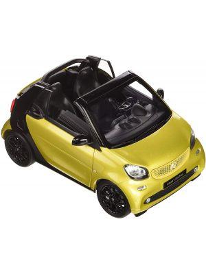 Norev B66960289, Smart sortwo Cabrio A453, 2014, schwarz-gelb metallic, 1:18, 4052176721407