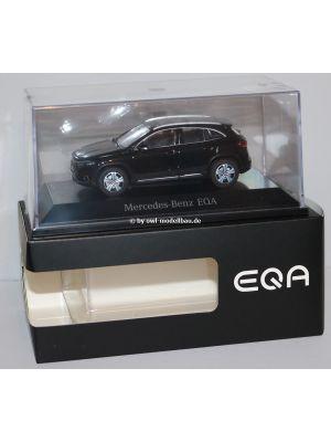 Herpa B66960825, Mercedes Benz EQA, Offroader Progressive Line (H243), 2021, Kosmosschwarz, 1:43