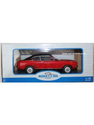 MCG18083, Ford Capri MK I GT, 1973, rot-schwarz, 1:18, 4052176693865
