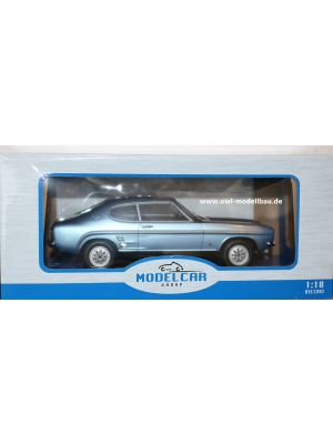 MCG18084, Ford Capri MK I 1600 GT, 1973, hellblau metallic, 1:18, 4052176693872