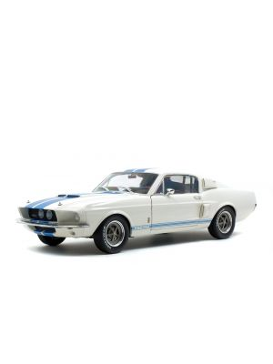 Solido S1802901, SHELBY GT500, 1967, Wimblendon white, Blue stripes, 3663506006180
