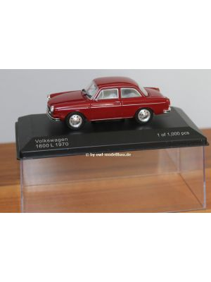 WhiteBox WB274, VW 1600 L Typ 3, 1970, dunkelrot, 1:43, 9580015711524